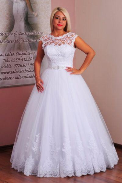 Rochie de mireasa Silvia alb