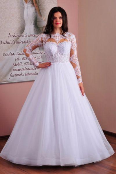 Rochie de mireasa Nadia alb