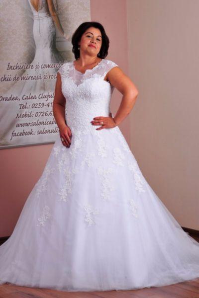 Rochie de mireasa Larisa alb