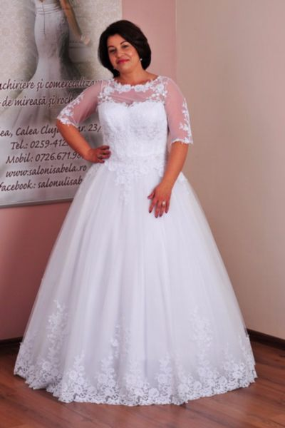 Rochie de mireasa Adelina alb