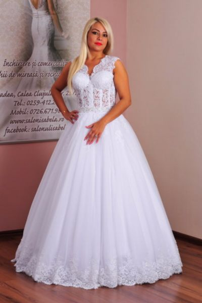 Rochie de mireasa Cerasela alb